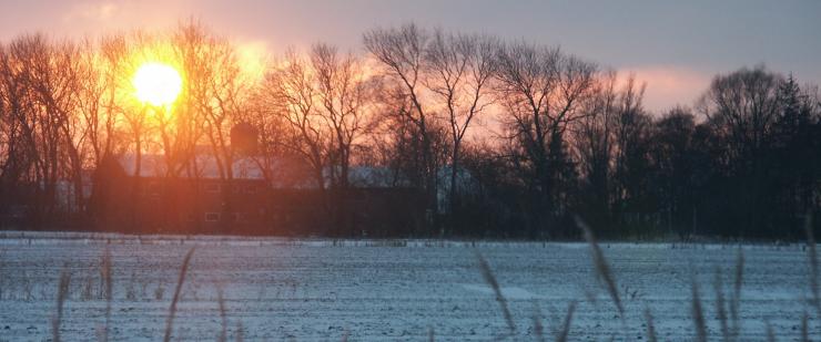 Sonnenuntergang in Simonsberg